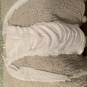 White dress, fashion nova, mesh